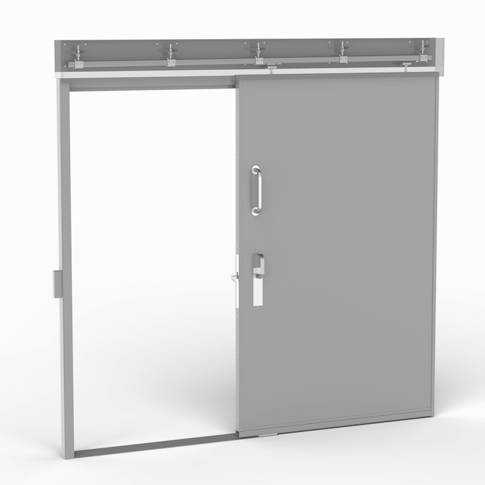 Norac's SD door is a sliding door that can be used in areas where a hinged door would have little room to completely swing open. Norac AS